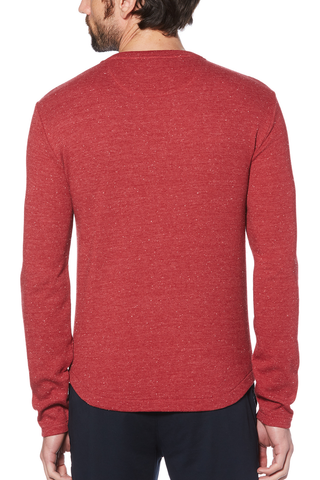 Original Penguin William Waffle L/S in Red