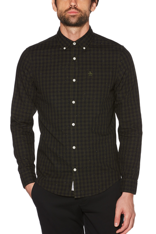 Original Penguin Aaron L/S Shirt in Green