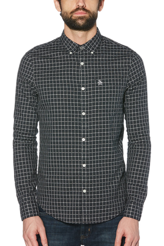 Original Penguin Roger L/S Shirt in Navy