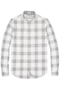 Original Penguin Cohen Plaid L/S Shirt in White