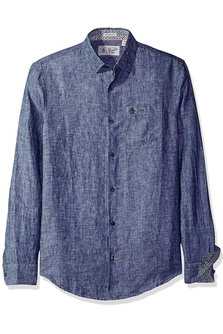 Original Penguin Whitby L/S Shirt in Navy