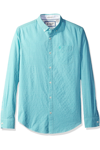 Original Penguin Sherbrooke L/S Shirt in Teal