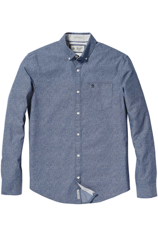 Original Penguin Thousand Oaks L/S Shirt in Blue