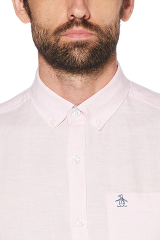 Original Penguin Poker Night Shirt in Pink