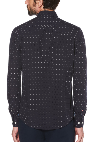 Original Penguin Elden L/S Shirt in Navy