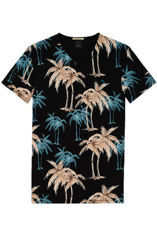 Scotch & Soda Palm Breeze Tee in Navy