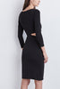 Velvet Fall For You Dress in Black