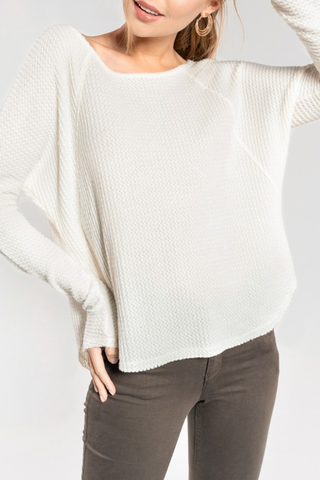 Brooklyn Sweater in Ivory