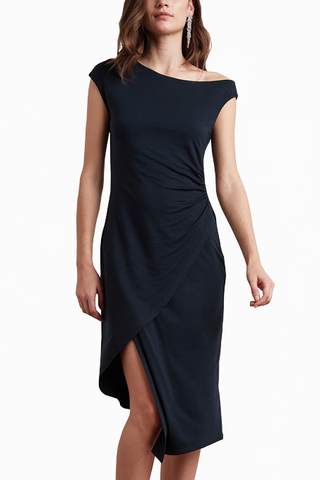 Velvet Want You More Dress in Navy