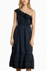 Velvet Flamenco Dress in Navy