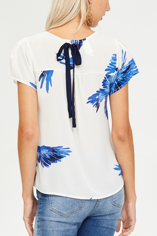 Wild Bird Top in Blue