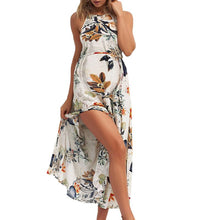 Load image into Gallery viewer, Maternity Halter Sleeveless Floral Print Dress