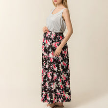 Load image into Gallery viewer, Maternity Sleeveless Round Neck Splicing Print Dress