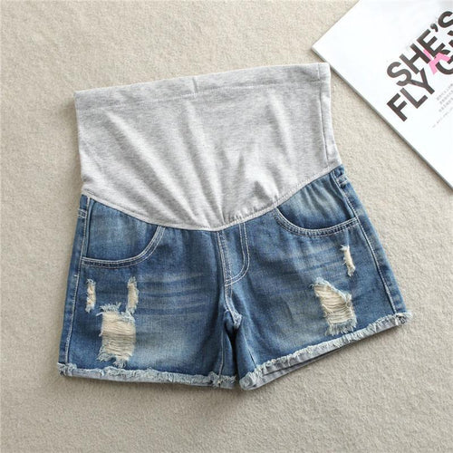 Maternity Ripped Jeans Shorts