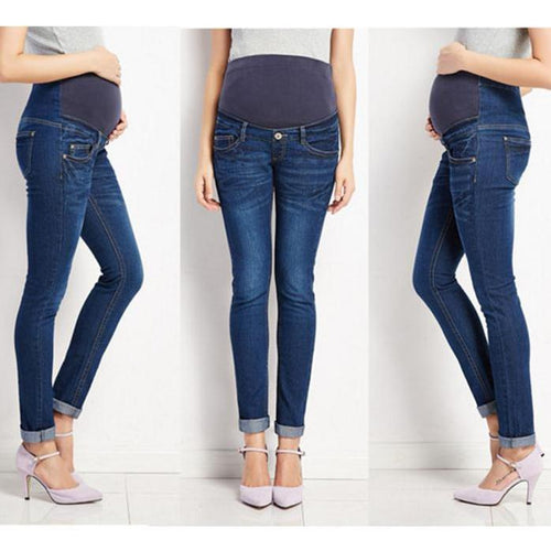Maternity Elastic Casual Jeans