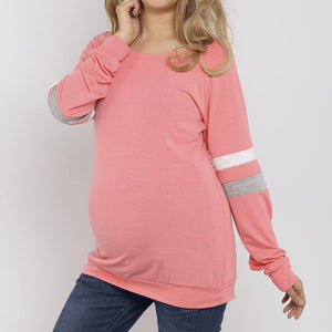 Maternity Loose Long Sleeve Pullover