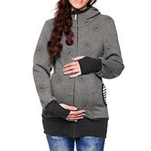 Load image into Gallery viewer, Maternity Removable Multifunctional Printing Colormatch Kangaroo Hoodie