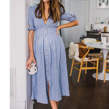 Load image into Gallery viewer, Maternity V-Neck Short Sleeve Maxi Dress