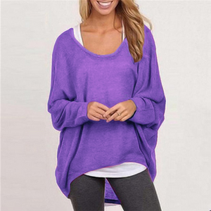 Casual Asymmetrical Long Sleeve Pullover