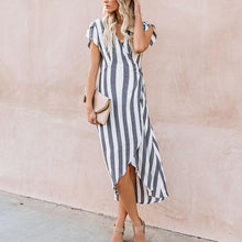 Load image into Gallery viewer, Maternity Stripe Tie Daily Dress