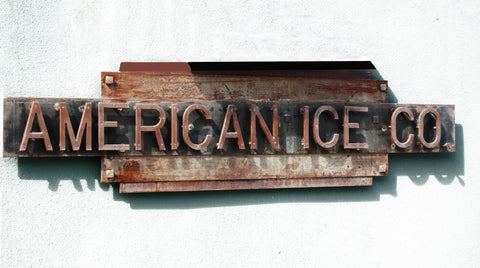 Custom Signage for American Ice Company, located in N.W. D.C.