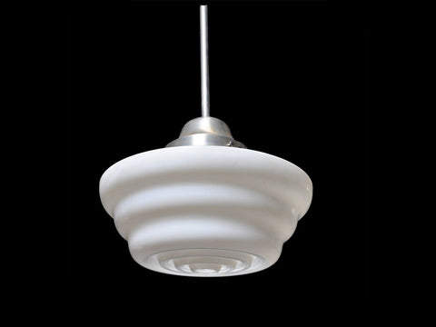 Art Deco Globe Pendent Light - Mid-Century