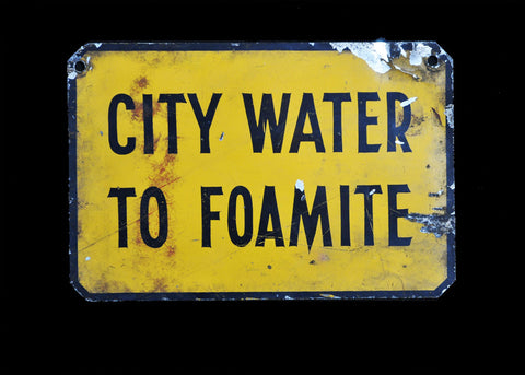 City Water Sign