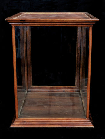 Chestnut Countertop Display Case c.1910