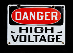 Danger High Voltage Signage