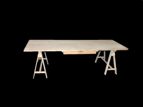 Large Pine Drafting Table