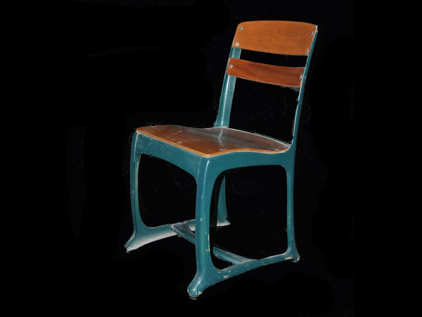 Blue American Seating Church/School Chair