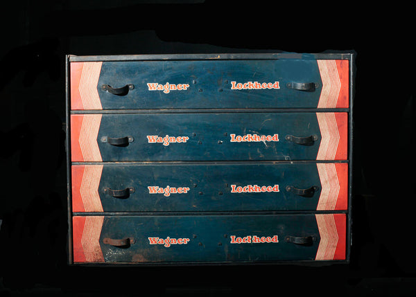 Wagner/Lockheed Automotive Brake Parts Four Drawer Storage Cabinet