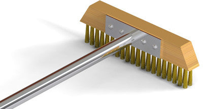 T-Style Brass Bristled Floor Brush