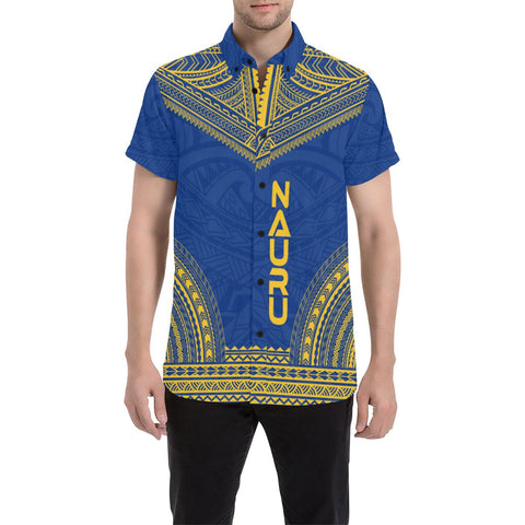 Nauru Polynesian Chief Shirt - Flag Version - Bn10