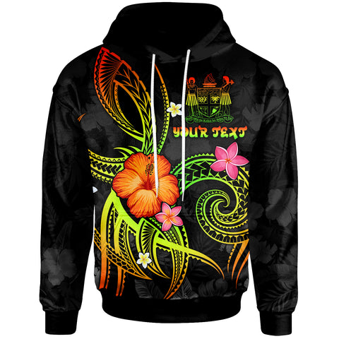 Fiji Polynesian Personalised Hoodie - Legend of Fiji (Reggae)