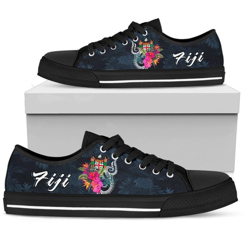 Fiji Polynesian Low Top Shoe - Tropical Flower
