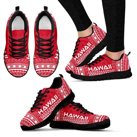 Women's Hawaii Sneakers - Polynesian Chief Flag Version Black