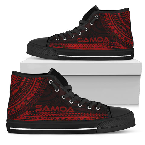 Samoa High Top Shoe - Polynesian Red Chief Version