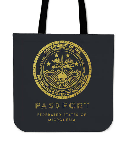 Federated States Of Micronesia Passport Tote Bag - BN04