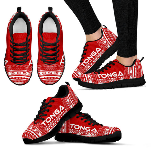 Women's Tonga Sneakers - Polynesian Chief Flag Version Black