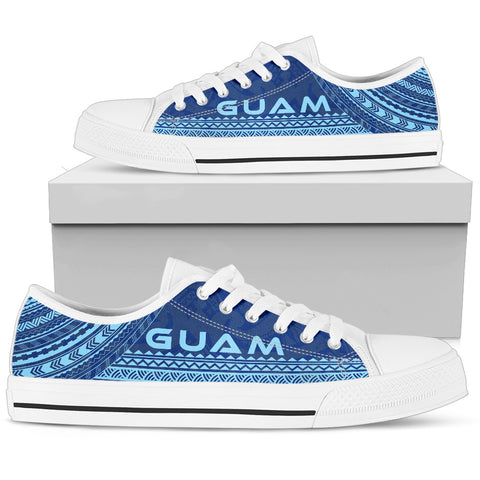 Women's Guam Low Top Shoes - Polynesian Flag Chief Version