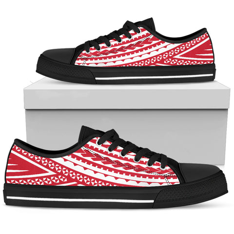 Women's Polynesian Low Top Shoes - Red Version Black