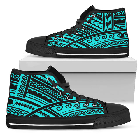 Polynesian Tribal High Top Shoes - BN12