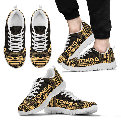 Men's Tonga Sneakers - Polynesian Chief Gold Version White