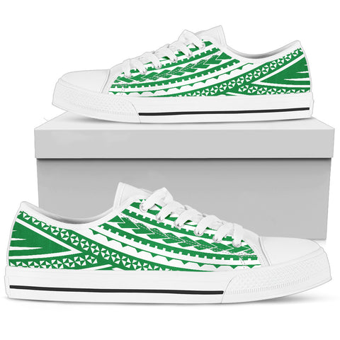 Women's Polynesian Low Top Shoes - Green Version White