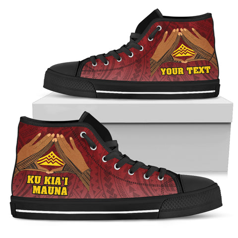 Hawaii Mauna Kea Custom Personalised High Top Shoe - Hand Sign Symbol