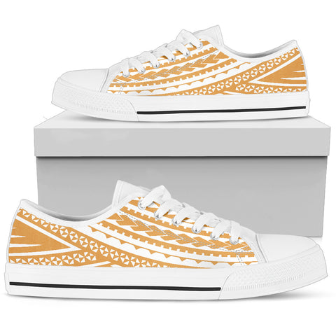 Women's Polynesian Low Top Shoes - Gold White Version White