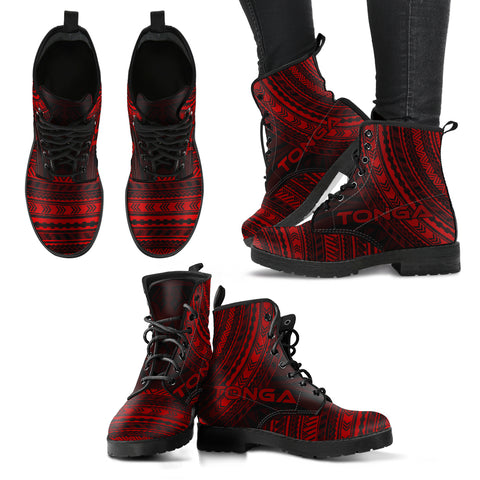 tonga Leather Boots - Polynesian Red Chief Version