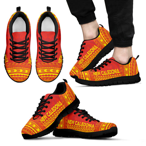 Men's New Caledonia Sneakers - Polynesian Chief Flag Version Black