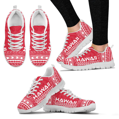 Image of Women's Hawaii Sneakers - Polynesian Chief Flag Version White